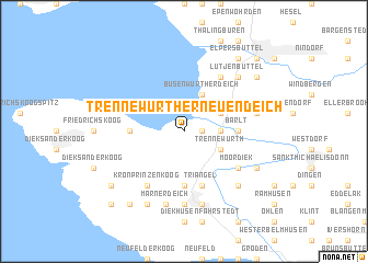 map of Trennewurther Neuendeich