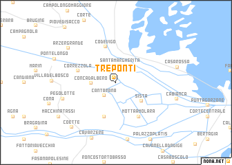 map of Tre Ponti