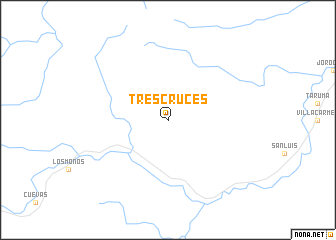 map of Tres Cruces
