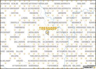 map of Tresdorf