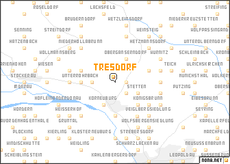 map of Tresdorf