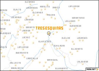 map of Tres Esquinas