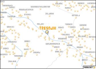 map of Trešnjik
