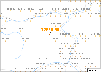 map of Tresviso