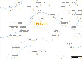 map of Trévans