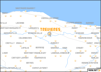 map of Trévières
