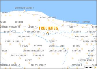 map of Trévières