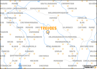 map of Trevões