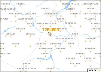 map of Trévron