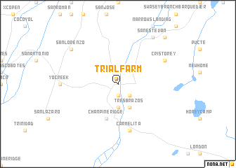map of Trial Farm