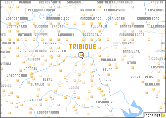 map of Tríbique