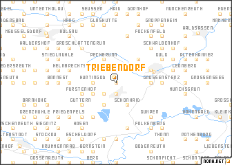 map of Triebendorf