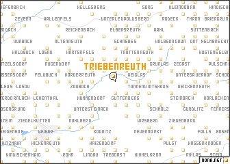 map of Triebenreuth