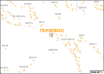 map of Trifunovići