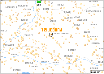 map of Trijebanj