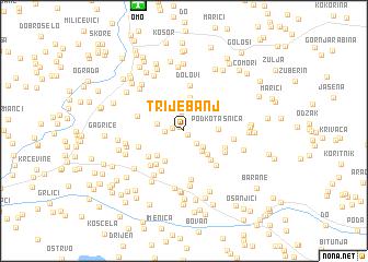 map of Trijebanj