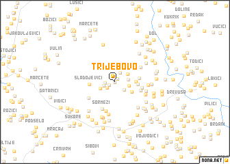 map of Trijebovo