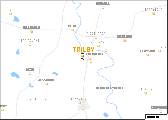 map of Trilby