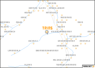map of Trins