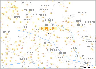 map of Tripkovi°i