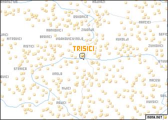 map of Trišići