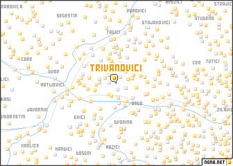 map of Trivanovići