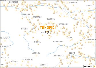 map of Trkovići