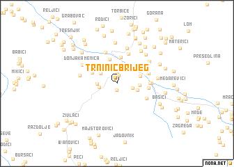 map of Trninić-Brijeg