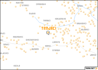 map of Trnjaci
