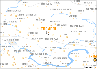 map of Trnjani