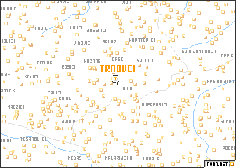 map of Trnovci