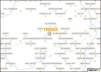 map of Trögen