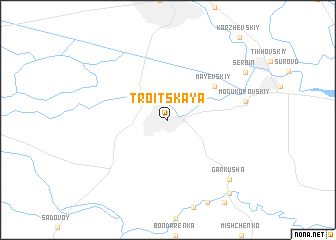 map of Troitskaya