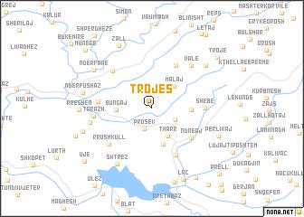 map of Trojës