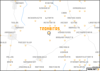 map of Trombitás