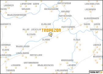 map of Tropezón
