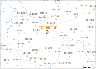 map of Troponje