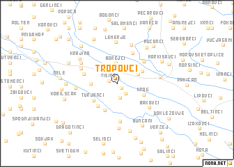 map of Tropovci
