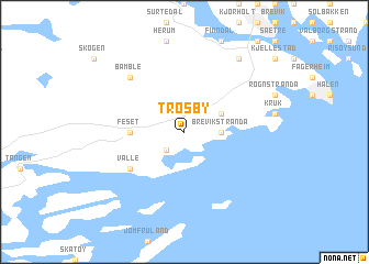 map of Trosby