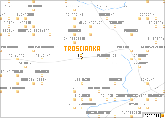 map of Trościanka