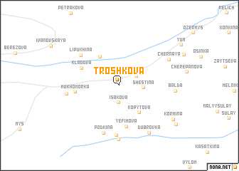 map of Troshkova