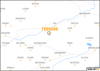 map of Troškas