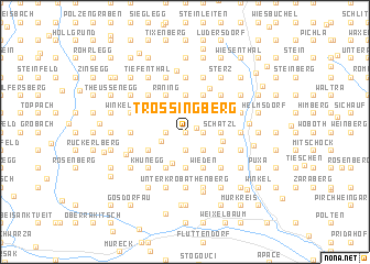 map of Trössingberg