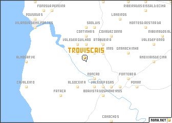 map of Troviscais