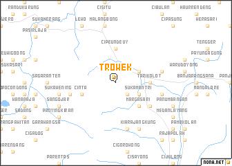 map of Trowek