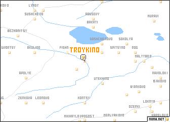 map of Troykino