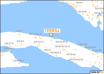 map of Trpanj