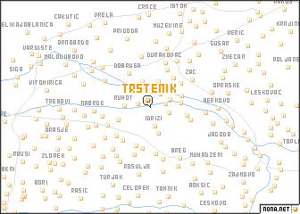 map of Trstenik