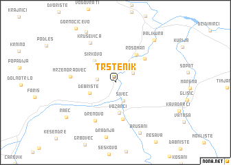 map of Trstenik