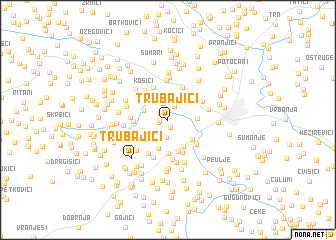 map of Trubajići